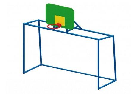 Ворота для мини-футбола с баскетбольным щитом