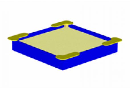 Песочница среднего размера «Квадрат»