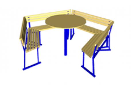 Садовый комплект: стол с диванами