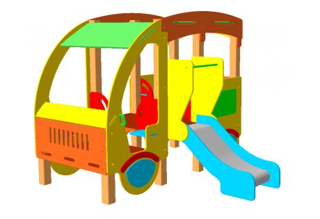 Автобус с горкой