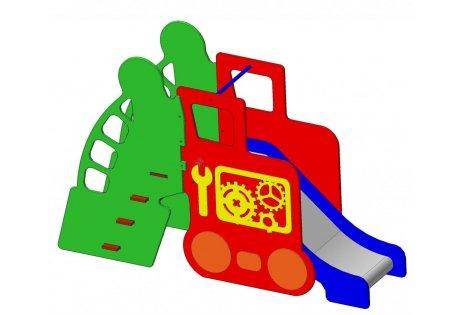 Детский игровой комплекс «Трактор с горкой»