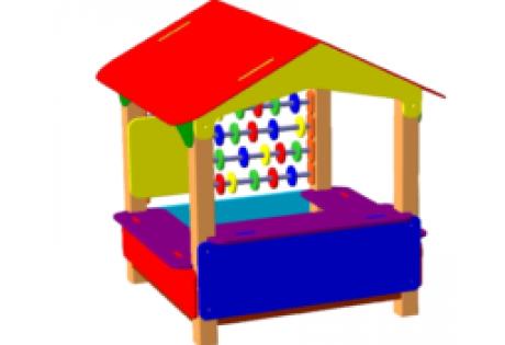 Песочница-домик со счётами