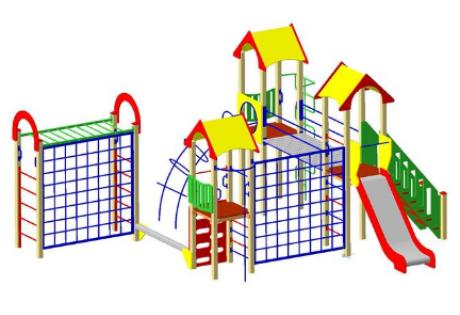 Детский игровой комплекс ДИК22 «Двойной»