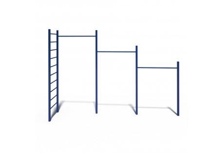 Турник 3-х уровневый с лестницей