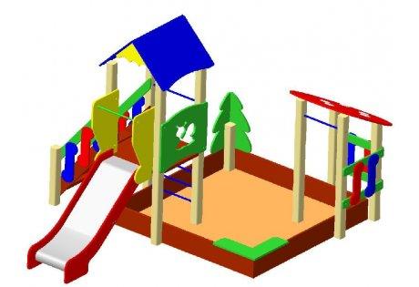 Детский игровой комплекс ДИК-4 «Сад»