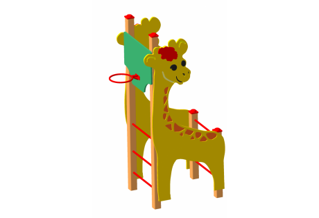 """Спортивно-игровой комплекс """"Жираф"""" с баскетбольным щитом"""