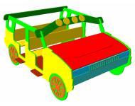 Игровой макет «Машинка кабриолет»