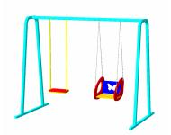Качели двухместные на цепях «Двойные»